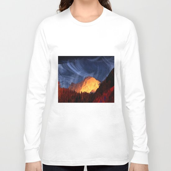 the rock at sunset Long Sleeve T-shirt