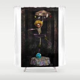 Dancing Clown On Earth Shower Curtain