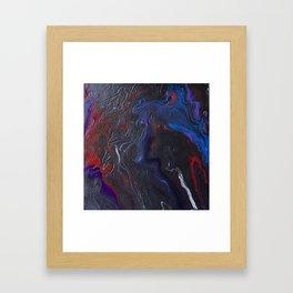 Dark Marble Framed Art Print