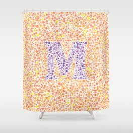 """M"" Eye Test Full Shower Curtain"
