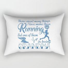 Running Grandma Rectangular Pillow