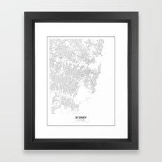 Sydney, Australia Minimalist Map Framed Art Print