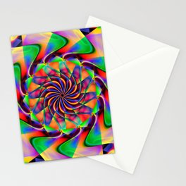 frequency mandala Stationery Cards