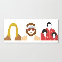 royal tenenbaums Canvas Prints featuring The Royal Tenenbaums by Qc Illustrations