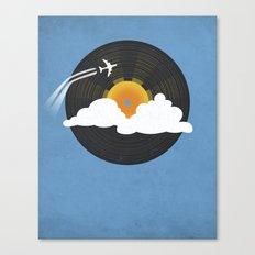 Sunburst Records Canvas Print