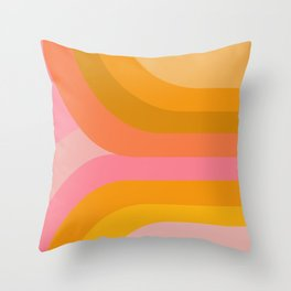 Retro Rainbow 89 Throw Pillow