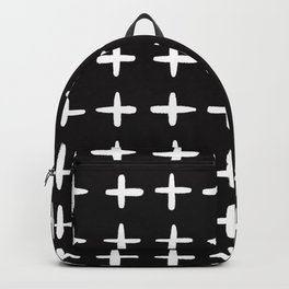 Plus sign black and white Backpack