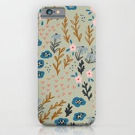 floral meditation 02 iPhone Case
