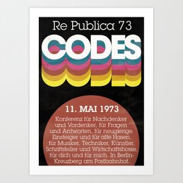 re:trospektive 1973: Codes Art Print
