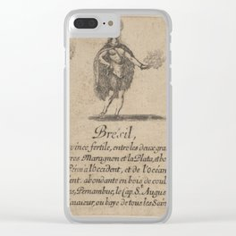 Game of Geography - Brésil (Stefano della Bella, 1644) Clear iPhone Case