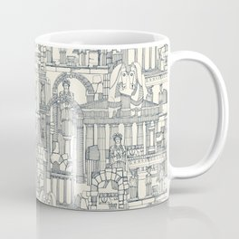 Ancient Greece indigo pearl Coffee Mug