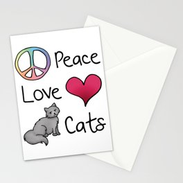 Peace Love Cats Stationery Cards