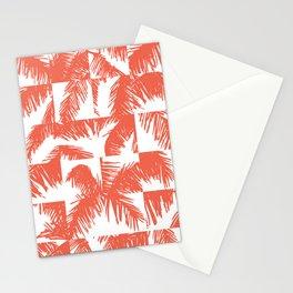 Palm Leaf Pattern Orange Stationery Cards