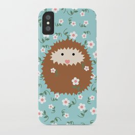 Hedgie in Spring iPhone Case