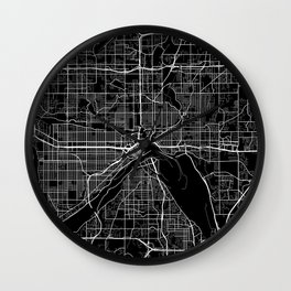 saint paul map minnesota Wall Clock