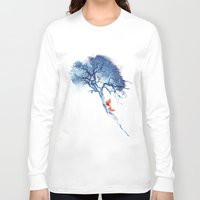 calm Long Sleeve T-shirts featuring There's no way back by Robert Farkas