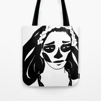 gothic Tote Bags featuring Gothic by Shauny P.