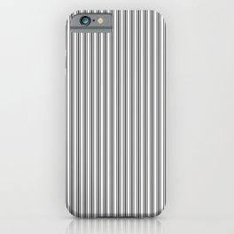 Classic Small Black Tarp Black French Mattress Ticking Double Stripes iPhone Case