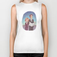 scully Biker Tanks featuring Mulder & Scully by Kaz Palladino & Awkward Affections