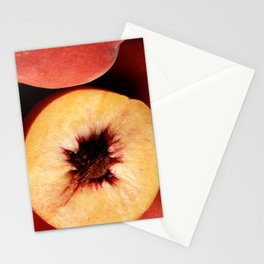 Autumn Red Peaches Stationery Cards