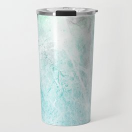 Mint Green Abstract Travel Mug