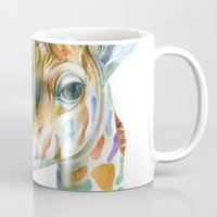 kindle Mugs featuring Giraffe by Brandon Keehner