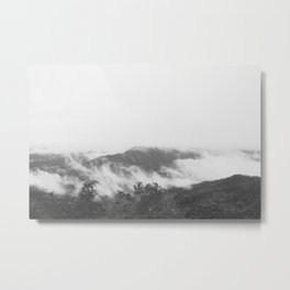 The Misty Mountins Metal Print