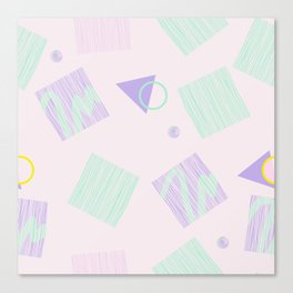 Geometric objects in pastels Canvas Print