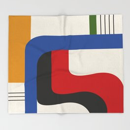 TAKE ME OUT (abstract geometric) Throw Blanket