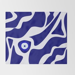 Evil Eye Lava Pattern Throw Blanket