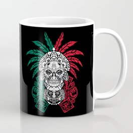 Aztec Warrior Skull - Mexican Ancestors - Mexico Roots Coffee Mug
