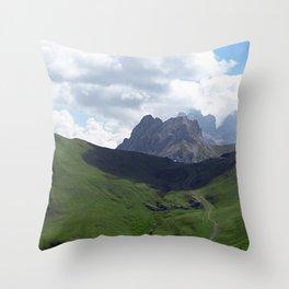 Highland Meadow Mountain Peaks Landscape Throw Pillow
