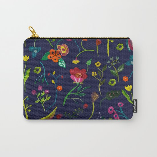 Floral love I pattern Carry-All Pouch