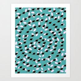 Cat spiral Art Print