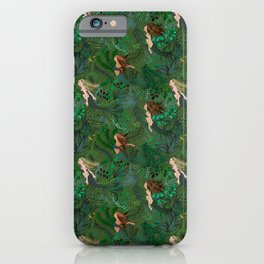 Mermaids in an Underwater Garden iPhone Case