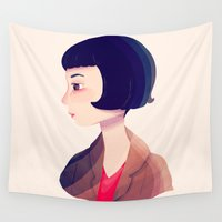 amelie Wall Tapestries featuring Amelie by Nan Lawson