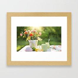 cake color cup Framed Art Print