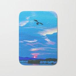 Seagull at Sunset Bath Mat