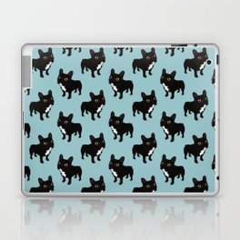 Brindle Frenchie likes to go for a walk to meet some friends Laptop & iPad Skin