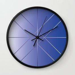Geo Clock Indigo Background Wall Clock