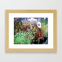 Garden Center Framed Art Print