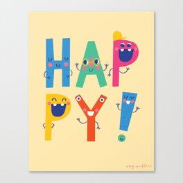 Happy! Canvas Print