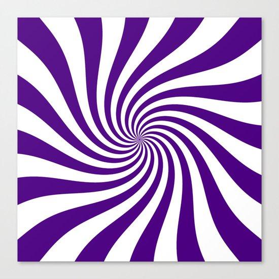 Swirl (Indigo/White) Canvas Print