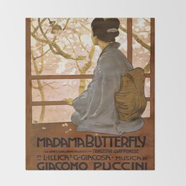 Vintage poster - Madama Butterfly Throw Blanket