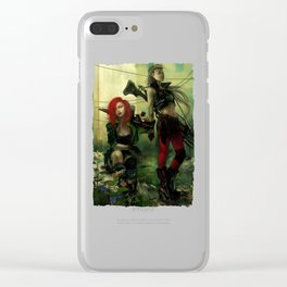 Hot pepper - Sci-fi soldier girls with weapons Clear iPhone Case