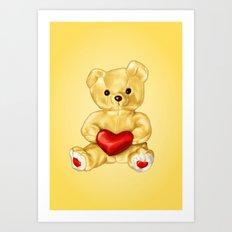Teddy Bear Hypnotist Art Print