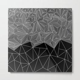 Digital Zentangle Incomplet Dark Metal Print