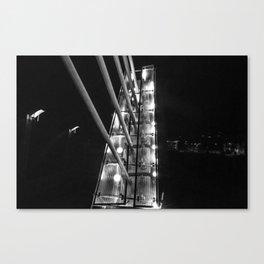 Detroit Pedestrian Bridge BW Canvas Print