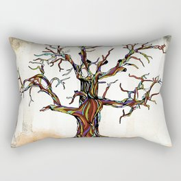 Tree of Many Colors Rectangular Pillow