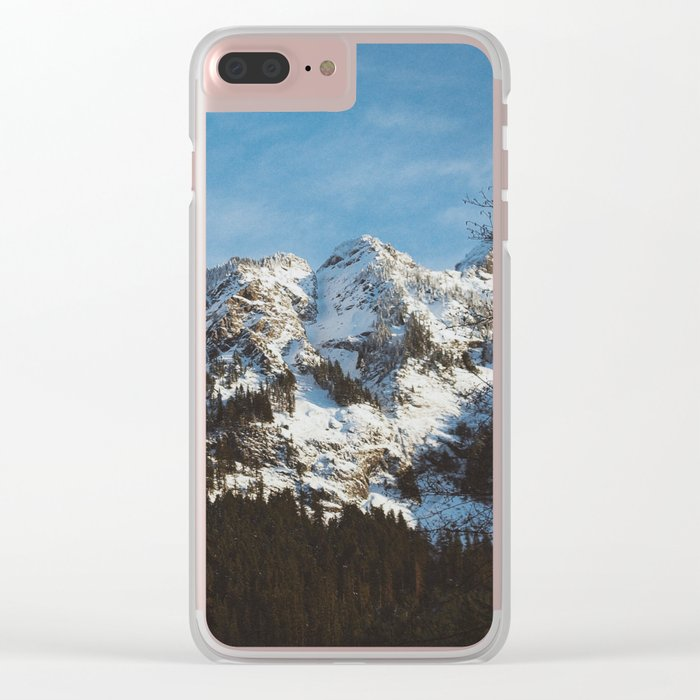 Rustic mountain Clear iPhone Case